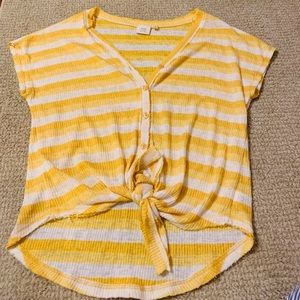 Dry goods yellow knot top
